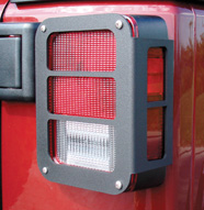 Black Powder Coated Tail Light Armor