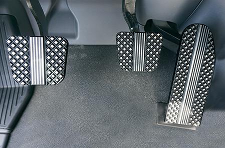 Kenworth Flat Diamond Cut Black Billet Pedal Set