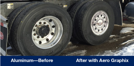 Aluminum Wheel Before & After with Aero Graphix