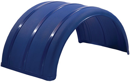 Blue Poly Single Arch Fender