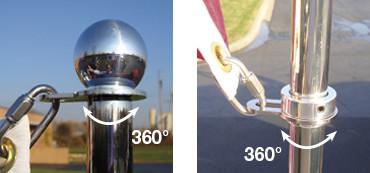 """Liberty"" Vehicle Flag Pole System 360 Rotation"