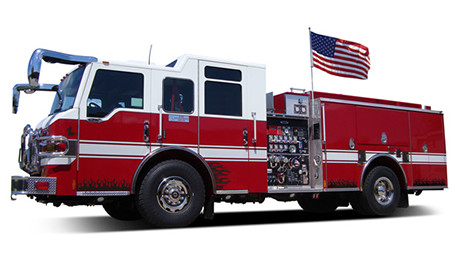 "The ""Liberty"" Vehicle Flag Pole System on Fire Truck"