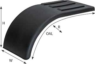Poly Half Tandem Fender Specs