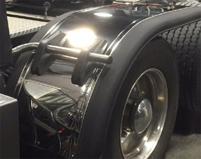 Prestige Half Tandem Fenders with mirror finish stainless