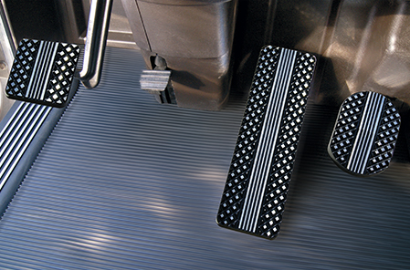 Kenworth Flat Diamond Black Billet Pedals
