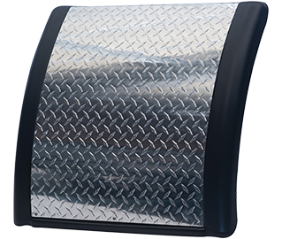 Prestige quarter fender with aluminum diamond panel