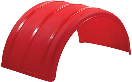 Red Poly Single Arch Fender