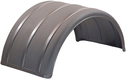 Silver Poly Single Arch Fender