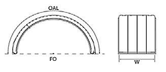 Poly Single Arch Fender Drawing