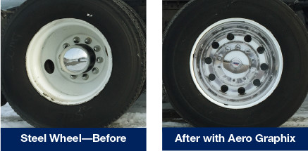 Steel Wheel Before & After with Aero Graphix