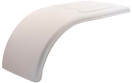 White Poly Half Tandem Fenders