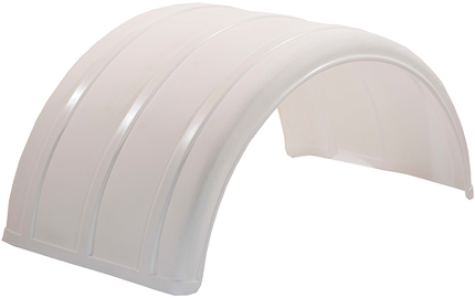 White Poly Single Arch Fender