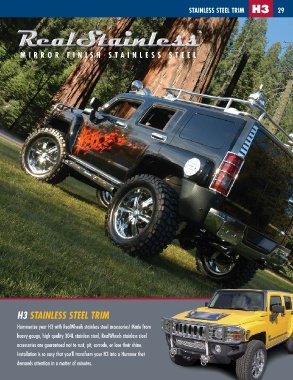 Mirror Finish RealWheels RW420-2-A Stainless Steel Step-Up Kit
