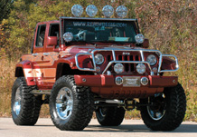 Adventure Jeep Front 3/4 View