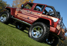 Adventure Jeep Rear 3/4 View