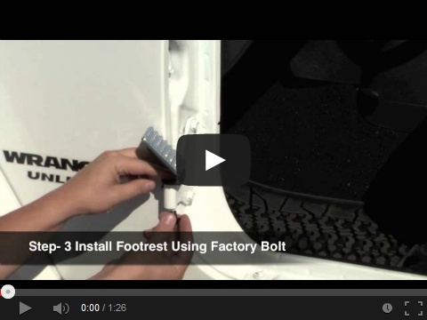 Install Video: Side Foot Rest