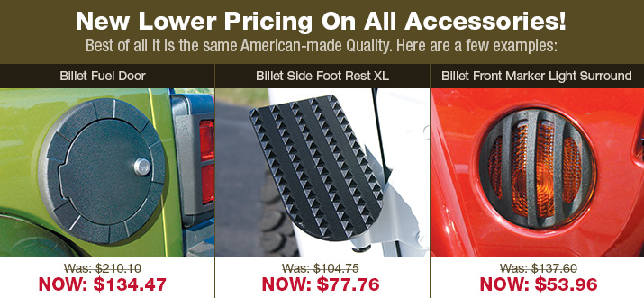 Lower Pricing on Accessories