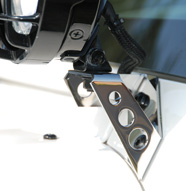 Stainless Steel Windshield Light Mounts
