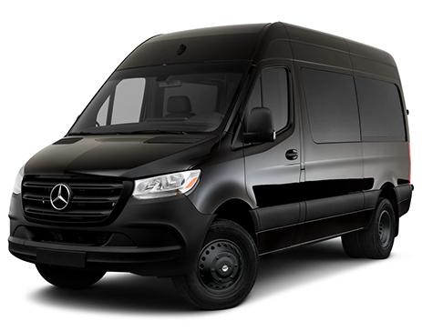 Black Sprinter Van with Stealth Black Simulators