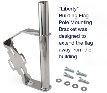 """Liberty"" Building Flag Pole Mounting Bracket"