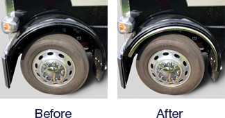 Peterbilt Fenderettes Before and After