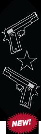 Dual Guns Logo Plate for RWC Kenworth Pedals