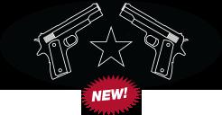 Dual Guns Logo Plate for RWC Peterbilt Pedals