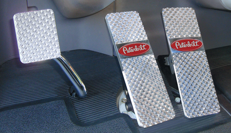 Peterbilt 379, 386, 388, 389 Billet Pedals available at Peterbilt Dealers