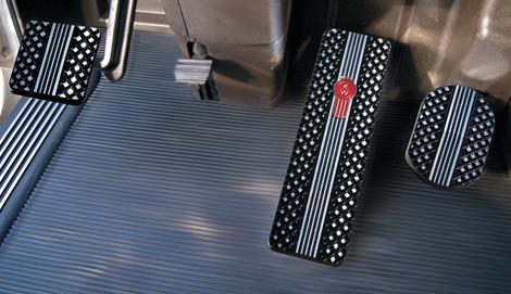 Kenworth T700, T800, W900 Black Billet Pedals (2007-Current) available at Kenworth Dealers