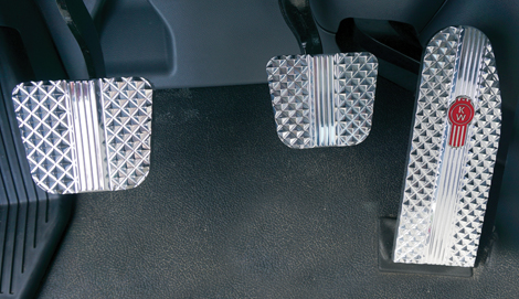 Kenworth T660, T680, T880 & W990 Billet Pedals (2014-Current) available at Kenworth Dealers