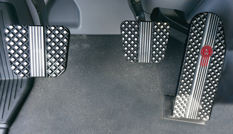 Kenworth T660, T680, T880 & W990 Black Billet Pedals (2014-Current) available at Kenworth Dealers