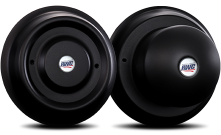 """22.5""""-24.5"""" Smooth Face Stealth Cover-Up Hub Covers"""