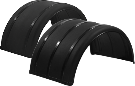 "19"" & 25"" Black Poly Single Arch Fenders"