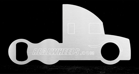 Aero Semi Truck Bottle Opener