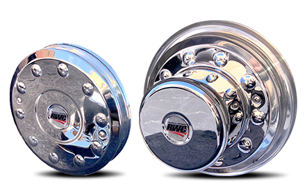 Hub-Covers For 2005+ Ford F450/F550, International TerraStar and Dodge 4500/5500