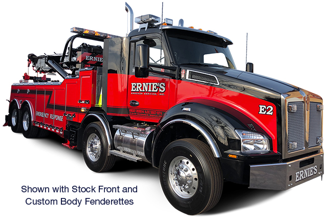 Kenworth Truck with Stock Front and Custom Body Fenderettes