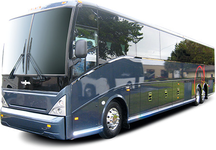 Luxury Motorcoach with European Axle Covers