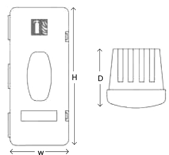 Front Loading Fire Extinguisher Case Specs