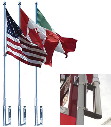 Flags on Liberty Vehicle Flag Pole System