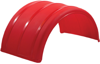 """Red 25"""" Single Arch Poly Fender"""