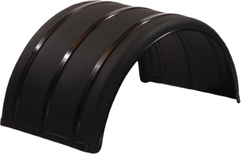 "Black 25"" Single Arch Poly Fender"