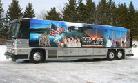 "Coach Bus with 22.5"" Simulators"