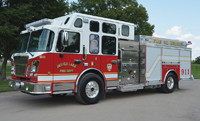 Fire Truck with Axle Covers