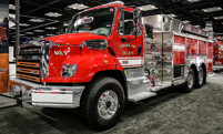 Fire Truck with Axle Covers and Grille Cover