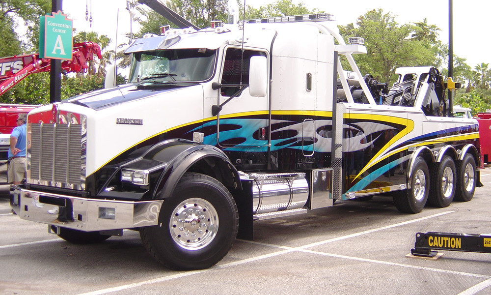 Tow Truck with Axle Covers