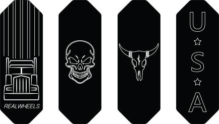 Kenworth Pedal Logo Plates