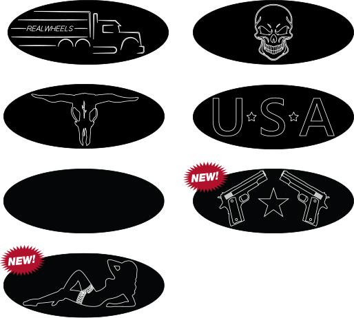 Peterbilt Custom Emblem Logo Plates