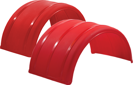 "19"" & 25"" Red Poly Single Arch Fenders"