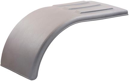 Silver Poly Half Tandem Fenders