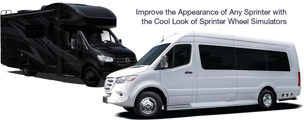 Sprinter Van and Sprinter Motorhome with Wheel Simulators